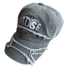 100% Cotton Cap with Magic Tape Closure, Embroidery and Top Button